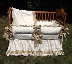Nursery Bedding Sets Neutral by New Custom Faux Dupioni Silk Luxury Posh Baby Nursery With