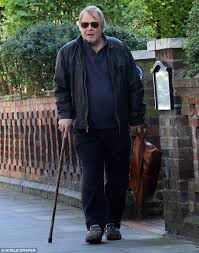 david soul cuts a fragile figure while running errands daily