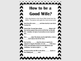 how to be a good wife guide 1950 u0027s black chevron