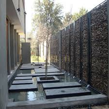 gabion property privacy wall i u0027m sure much better than a chain