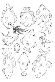 free printable fish coloring pages kids fish coloring