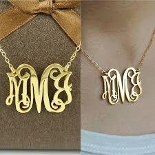 silver monogram necklace best 25 monogram necklace silver ideas on monogram