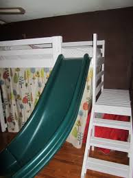 Loft Beds For Kids With Slide Ana White Camp Loft Bed With Stairs Slide And Fort Diy Projects