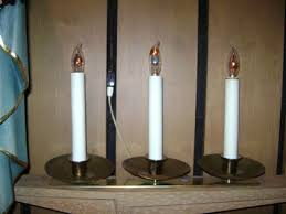 3 candle electric light electric 3 light church inventory
