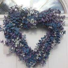 heart wreath frozen heart shaped eucalyptus wreath
