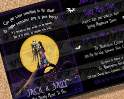 nightmare before baby shower invitation package