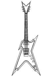 guitar coloring pages to print guitar coloring pages printable coloringstar