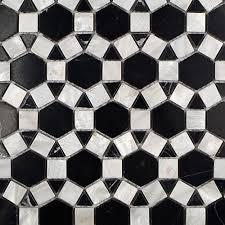 Best 10 Black Hexagon Tile by Splashback Tile Noble Hexagon Nero Marquina 9 3 4 In X 12 1 4 In