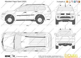mitsubishi pajero sport 2005 the blueprints com vector drawing mitsubishi pajero sport