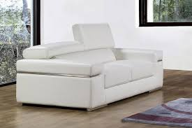 canap 2 places cuir deco in canape 2 places en cuir blanc can 2p