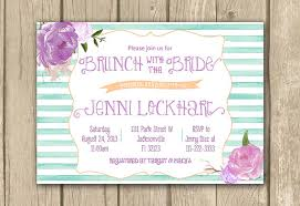 bridal shower invitations brunch printable bridal shower invitation lilac mauve purple teal aqua