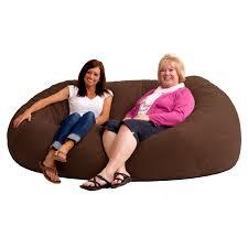 fuf 7 ft xxl comfort suede bean bag sofa hayneedle