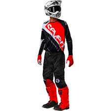 motocross pants and jersey combo 2018 seven mx rival militant gear kit red black sixstar racing