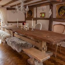 rustic oak kitchen table rustic oak dining table sl interior design