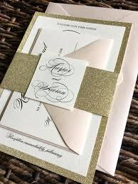 glitter wedding invitations gold glitter wedding invitation with glitter belly band gold