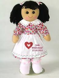 flower girl doll gift personalised rag doll floral flower girl doll bridesmaid doll gift