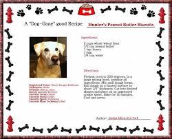 recipes for dog treats custom recipe card about dog treats