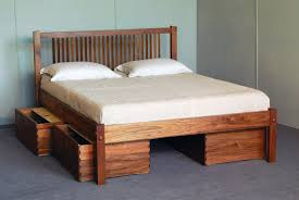 Build A Platform Bed With Storage Plans by How To Make Platform Bed With Storage Home Decorating Interior