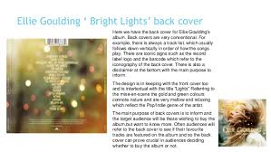 Ellie Goulding Bright Lights Analysis Of Album Back Covers