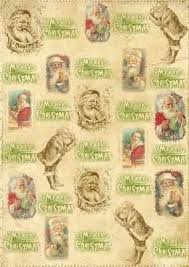 vintage christmas paper santa christmas digi backing paper