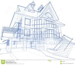 blueprints for a house house architecture blueprint stock illustration illustration