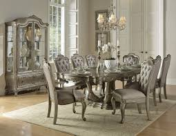 gold extendable dining room set