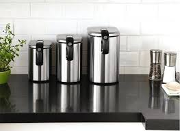 kitchen canisters modern glass kitchen canisters mid century canister set storage