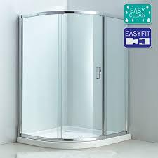 matrix single sliding offset quadrant shower enclosure