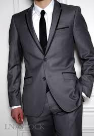 costume mariage homme gris costume mariage slim fit gris bordé noir sur lnastock costume