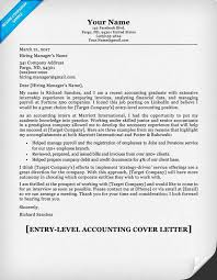 entry level accounting cover letter u0026 writing tips resume companion