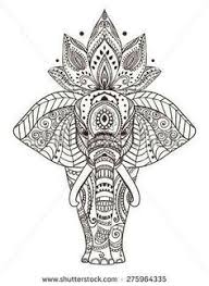 vector ornamental lotus ethnic zentangled henna tattoo patterned