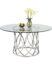 Silver Dining Tables Slash Prices On Somette Colette 54 Inch Stainless Steel