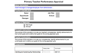 teacher appraisal form template beautifuel me