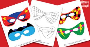 superhero mask template itsy bitsy fun
