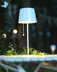 Wireless Outdoor Lighting - solar powered table lamp with graceful 14 h led wireless outdoor