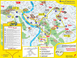 Italy Map With Cities Map Of Rome Tourist Attractions Sightseeing U0026 Tourist Tour
