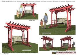 home garden plans furniture plans arbor swing plans garden