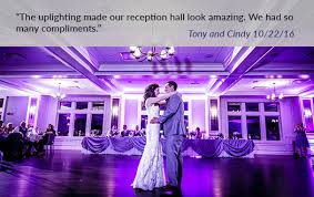 uplighting wedding detroit wedding uplighting michigan wedding accent lighting services