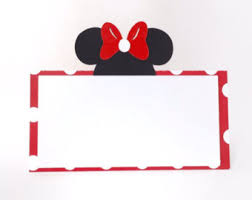 themed place cards minnie mouse food tent cards with editable text in pink