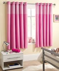Pink Gingham Curtains Childrens Pink Gingham Thermal Blackout Eyelet Ring Top Curtains