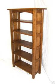 Oak Bookshelves by Handmade Graduated Mission Oak Bookcase Tall Bookshelf Woodruff