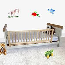 barandillas para camas safetots barrera protectora de cama madera color