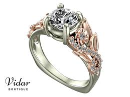 lotus engagement ring unique lotus flower engagement ring vidar boutique vidar boutique