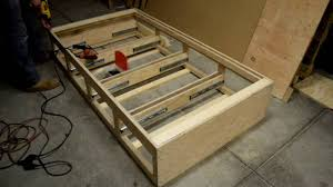 How To Build A Twin Platform Bed Frame by How To Make A Twin Bed With Drawers By Diy With Chris Youtube