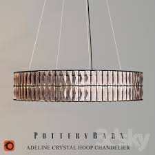 Hoop Chandelier 3d Models Ceiling Light Adeline Hoop Chandelier