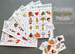 thanksgiving bingo free printable blooming homestead