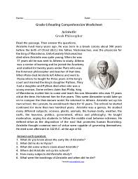 reading comprehension grade reading worksheets sixth grade reading worksheets