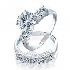 weedding ring wedding ring sets for cz sterling silver engagement ring sets