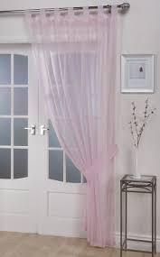 voile panels u0027opaque u0027 pastel pink tab top curtain panel