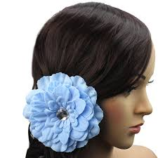 hair corsage 13x colourful satin peony flower hair pin